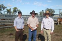 Rabobank Reps Luke Sheppard on left & Sandy Donovan on right talking to Tony Carrett ALC Brahmans